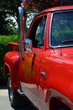 Red Hot rod pickup truck Royalty Free Stock Photos