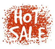 Red Hot Sale Background. Vector illustration design Stock Illustration