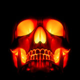 Red-hot skull Royalty Free Stock Photos