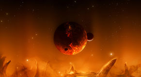 Red hot space world Royalty Free Stock Images