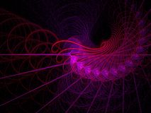 Red hot spirals and swirls. Abstract fractal backgroucreated with apophysis Royalty Free Stock Photo