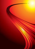 Red hot strand Royalty Free Stock Photos