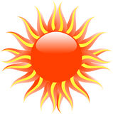 Red hot sun Royalty Free Stock Photos