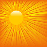 Red hot sun Royalty Free Stock Image