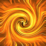 Red Hot Swirl. Abstract yellow-orange swirl vector illustration