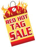 Red Hot Tag Sale Royalty Free Stock Photos