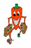 Red Hot Vacation. Can't wait to get started on that red hot vacation. This chili pepper knows what's good. He can't wait to get there. Great for mexican, mexican Royalty Free Stock Photos