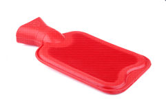 Red hot water bottle Royalty Free Stock Image