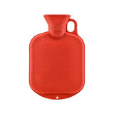 Red hot water bottle Royalty Free Stock Photos