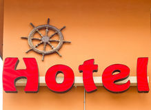 Red Hotel Sign Royalty Free Stock Photo