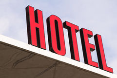 Red hotel Sign Royalty Free Stock Images