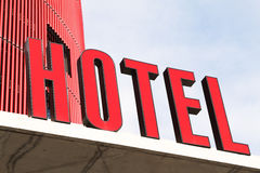 Red hotel Sign Royalty Free Stock Image