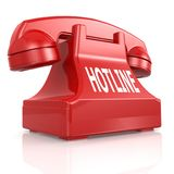 Red hotline phone Stock Photos