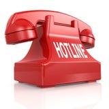 Red hotline phone Stock Photos
