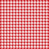Red houndstooth pattern vector. Classical checkered textile design. Royalty Free Stock Photos
