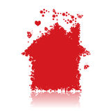 Red house. Royalty Free Stock Images