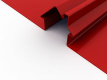 Red house. 3d render of red house symbol isolated on white Royalty Free Stock Photography