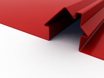 Red house. 3d render of red house symbol isolated on white Royalty Free Stock Image