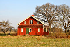 Red house. A typical old red wooden house in Sweden royalty free stock images