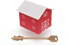 The red house. And key from the house Stock Image