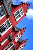 Red house. In Gent, Belgium Stock Photos