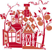 Red house vector illustration
