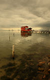 Red house. On the sea Royalty Free Stock Photo