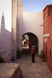 Red house in Arequipa Royalty Free Stock Photos