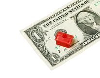 Red house on banknote Stock Photos