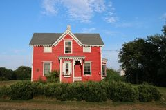 The Red House in Block Island, Rhode Island Stock Image
