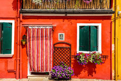 Red house Burano Stock Photo