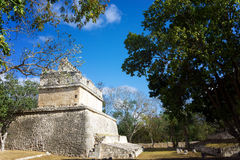 Red House in Chichen Itza Royalty Free Stock Photography