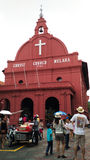 Red house Christ Church in Malacca Royalty Free Stock Image