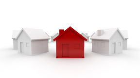 Red House in a circle Royalty Free Stock Images
