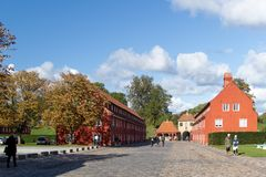 Red house in the Citadel. royalty free stock photography