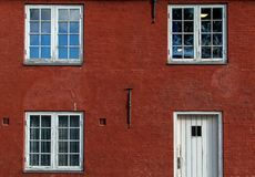 Red house in the Citadel. royalty free stock images
