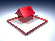 Red house construction industry Royalty Free Stock Images