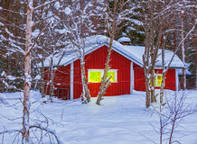 Red house. Finland Royalty Free Stock Image
