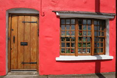 Red house in Galway. Downtown in Ireland Royalty Free Stock Image