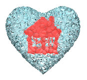 Red house heart Stock Photos