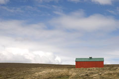 Red house in Iceland Stock Image