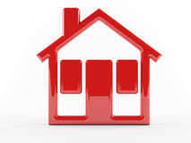 Red house icon Royalty Free Stock Photo