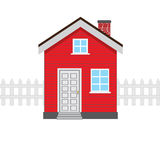 Red house icon Stock Photos