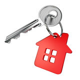 Red house key Royalty Free Stock Images