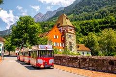 Red house in Liechtenstein Royalty Free Stock Image