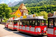 Red house in Liechtenstein Royalty Free Stock Photos