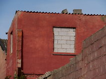Red house. Old abandoned house and chiua please more accessible Stock Photography