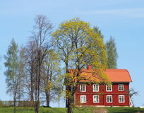 Red house. An old red swedish house Stock Photo