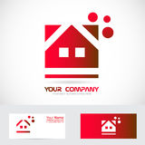 Red house real estate logo Royalty Free Stock Photography