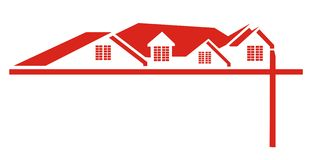 Red House Roof Logo Stock Photos